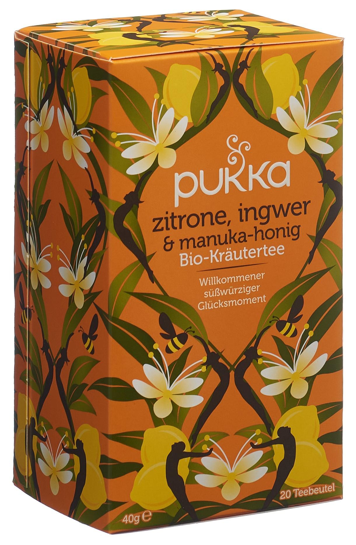 PUKKA Zitrone Ingwer & Manuka Honig Tee Bio Btl 20 Stk