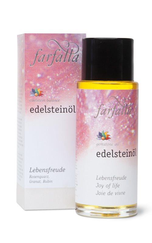 FARFALLA Edelstein-Massageöl Lebensfreude 80 ml